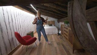 Nous transformons un loft vide en une chambre bohème et rurale - Étape 10