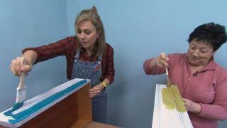 D'une pièce brisée à une chambre d'enfants décontractée dans des tons de bleu - Étape 6