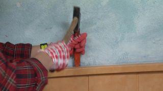 Décorez la chambre d'hôtes dans des airs de bois et écossais - Étape 2