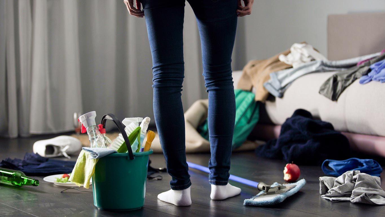 Chambre stressante en raison du manque de propreté