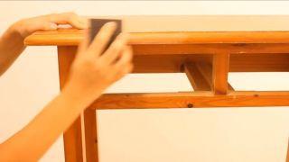 Meubles en bois vieilli avec effet peinture craie - Étape 1