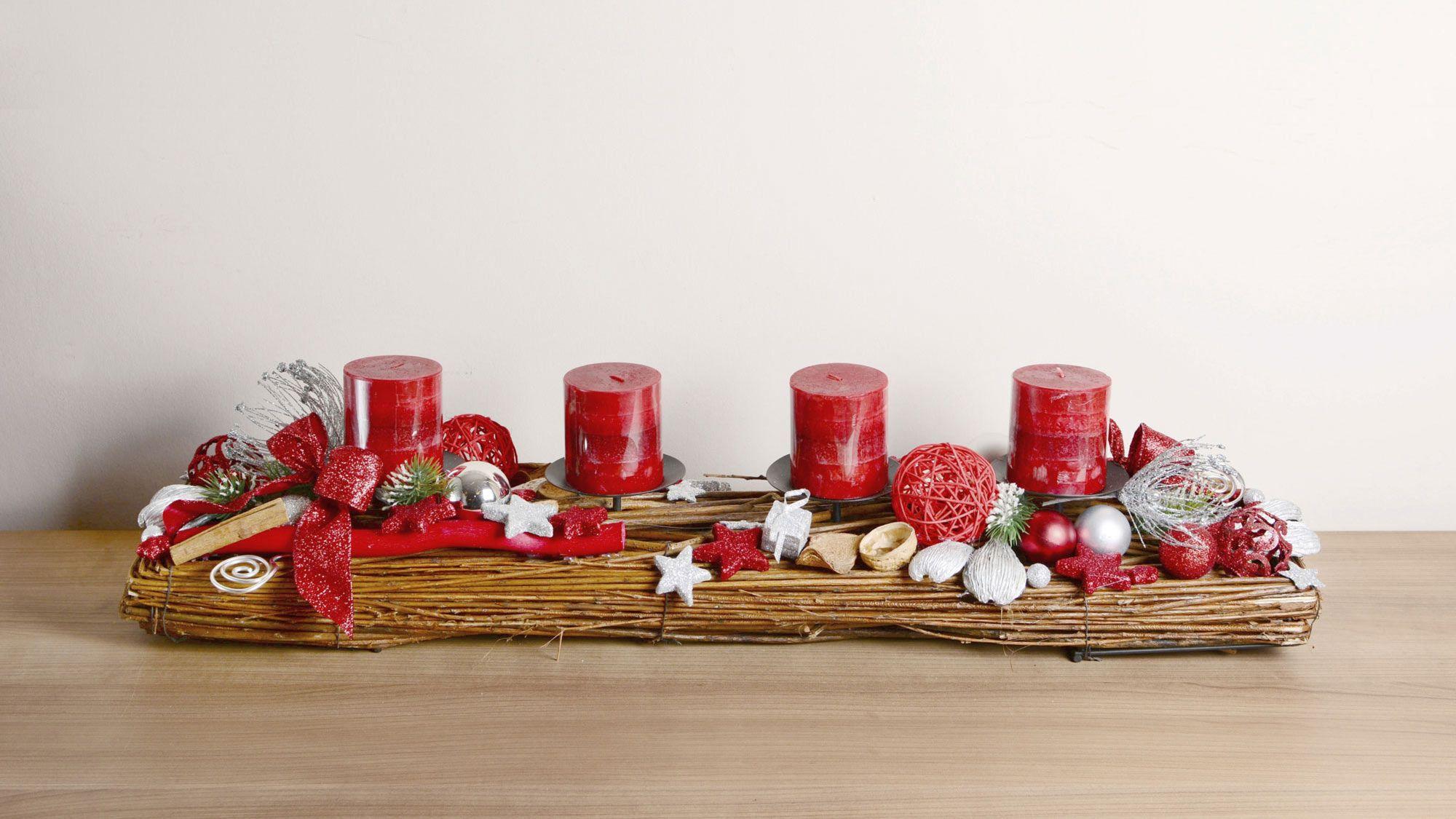 Centres de table de Noël pour tables rectangulaires