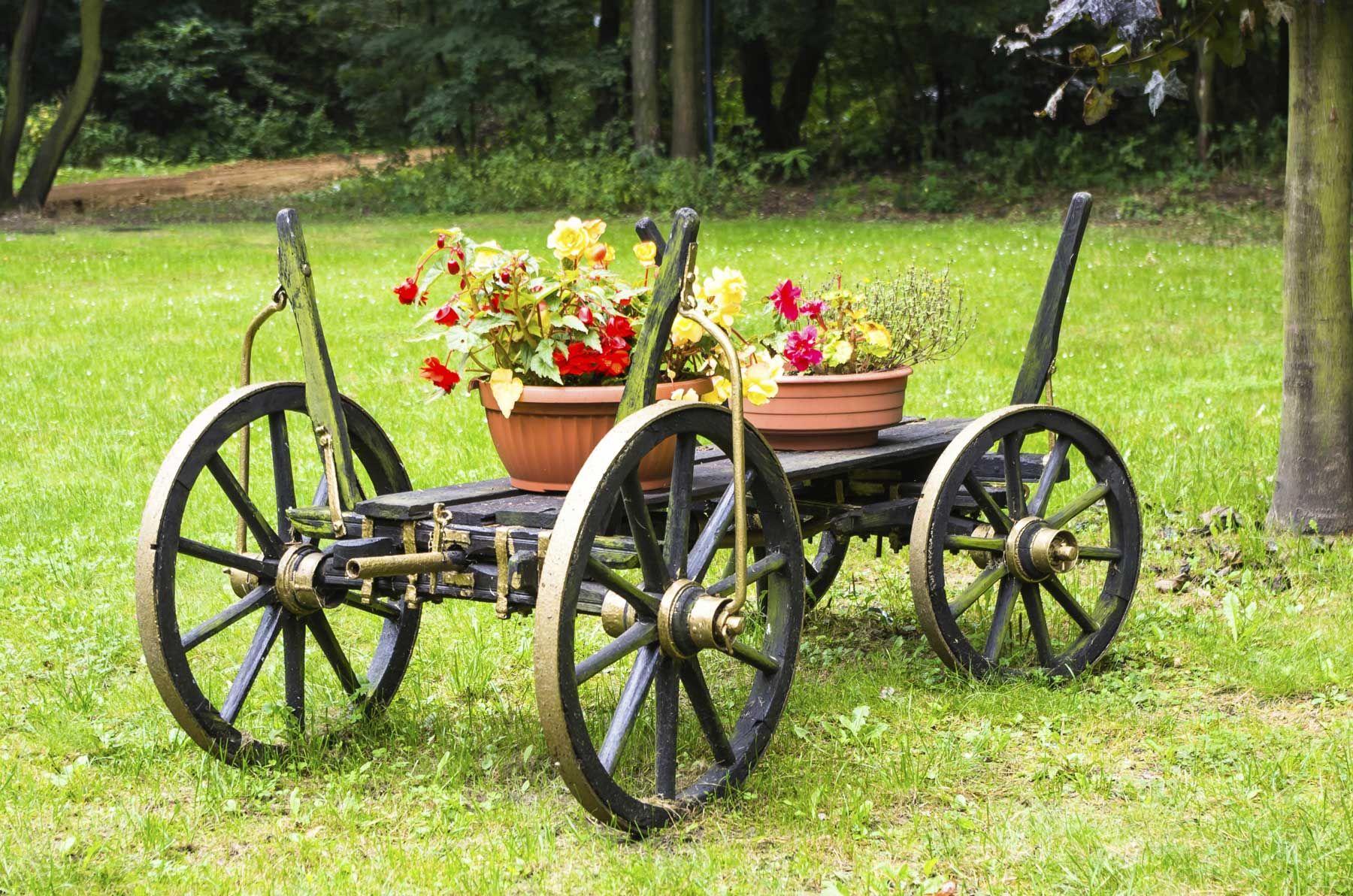Voitures pour décorer les jardins