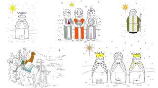 Coloriage Les Rois Mages