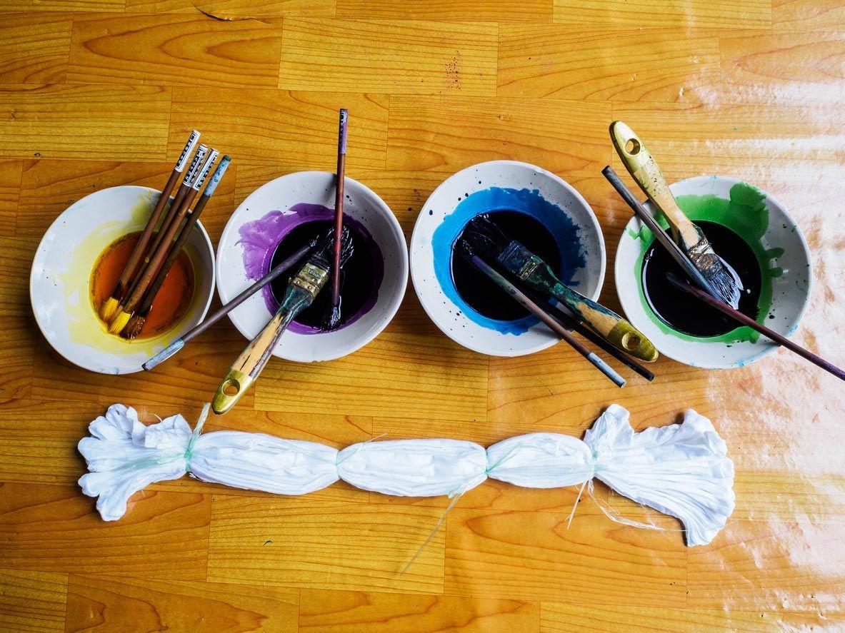 Comment faire un rideau cravate hippie