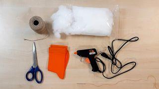 Comment faire des citrouilles en tissu - Matériaux