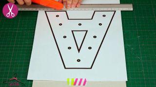 Comment faire des lettres en carton lumineuses - Étape 1