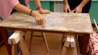 Faire un plateau de table en bois - étape 1