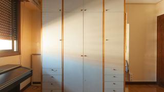 peindre le placard de la chambre vert - avant