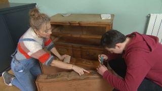 Peindre les meubles en bois Étape 1