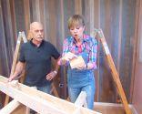 Placer des poutres en bois creuses au plafond - étape 1