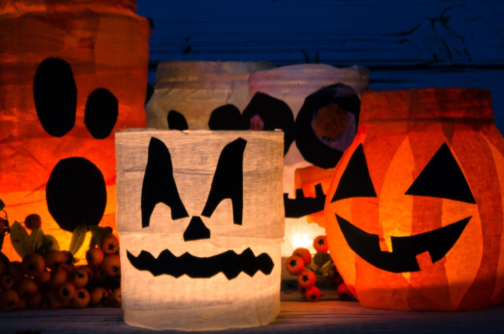 Pots de momie d'Halloween