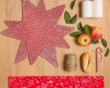 Décorez une table de Noël nordique en blanc et rouge
