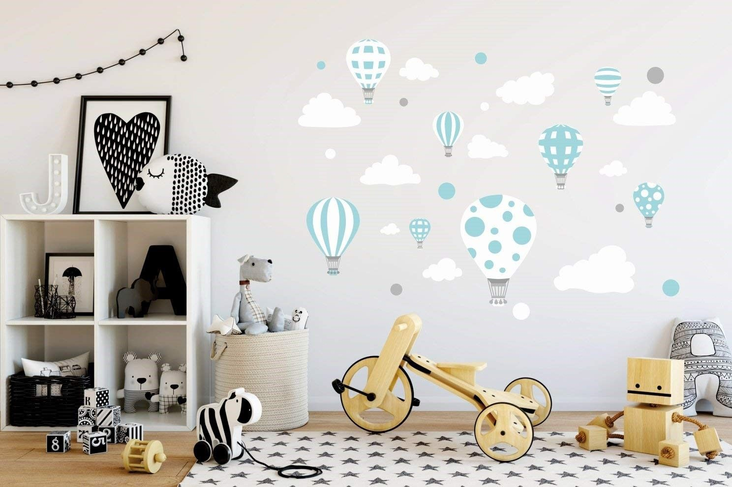 Ballon en vinyle pour décorer la chambre des enfants.