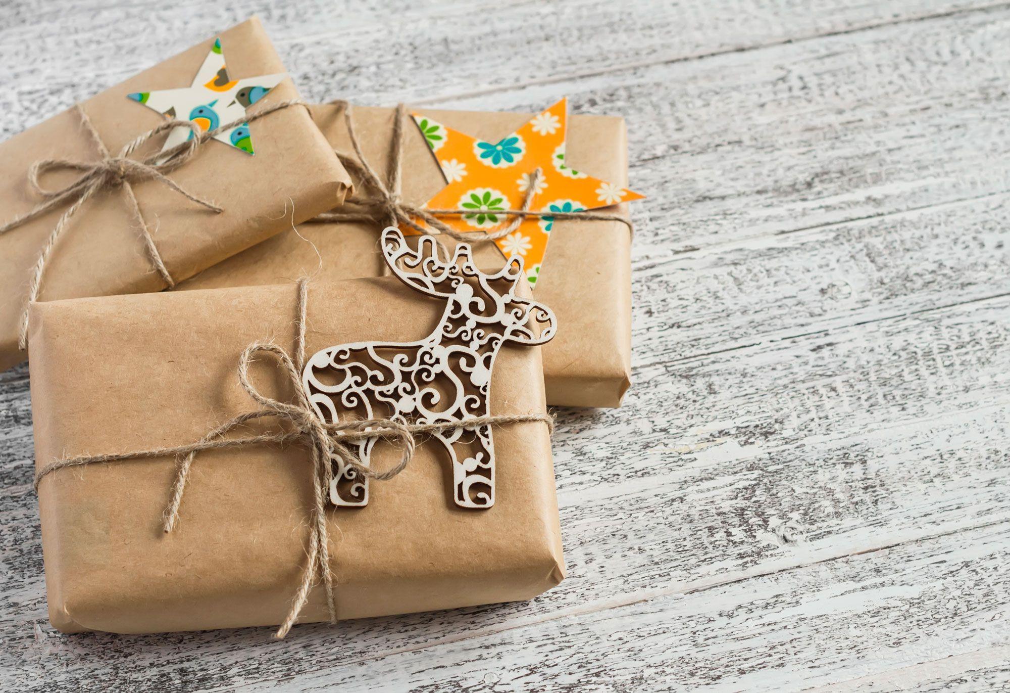 Emballage d'origine pour cadeaux de Noël
