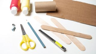 Comment faire un avion avec le carton du papier toilette et des sucettes, facile et rapide!  - Matériaux