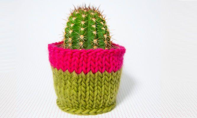 housse en tricot pour pots