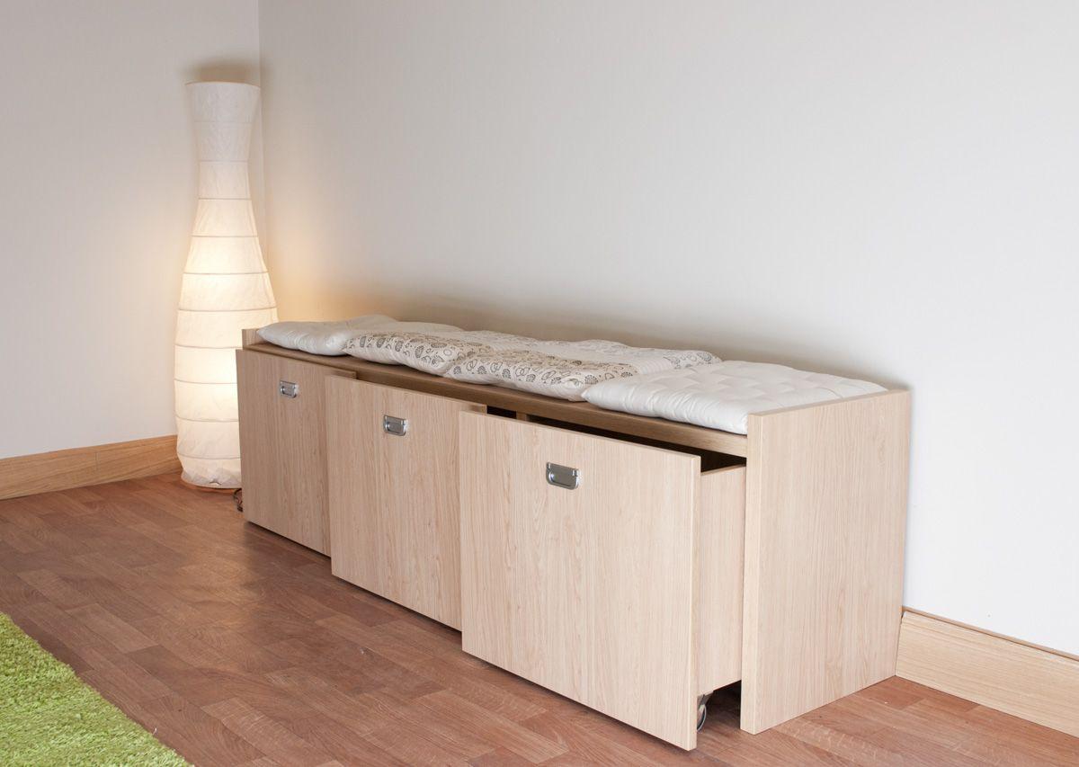 Banc à tiroirs