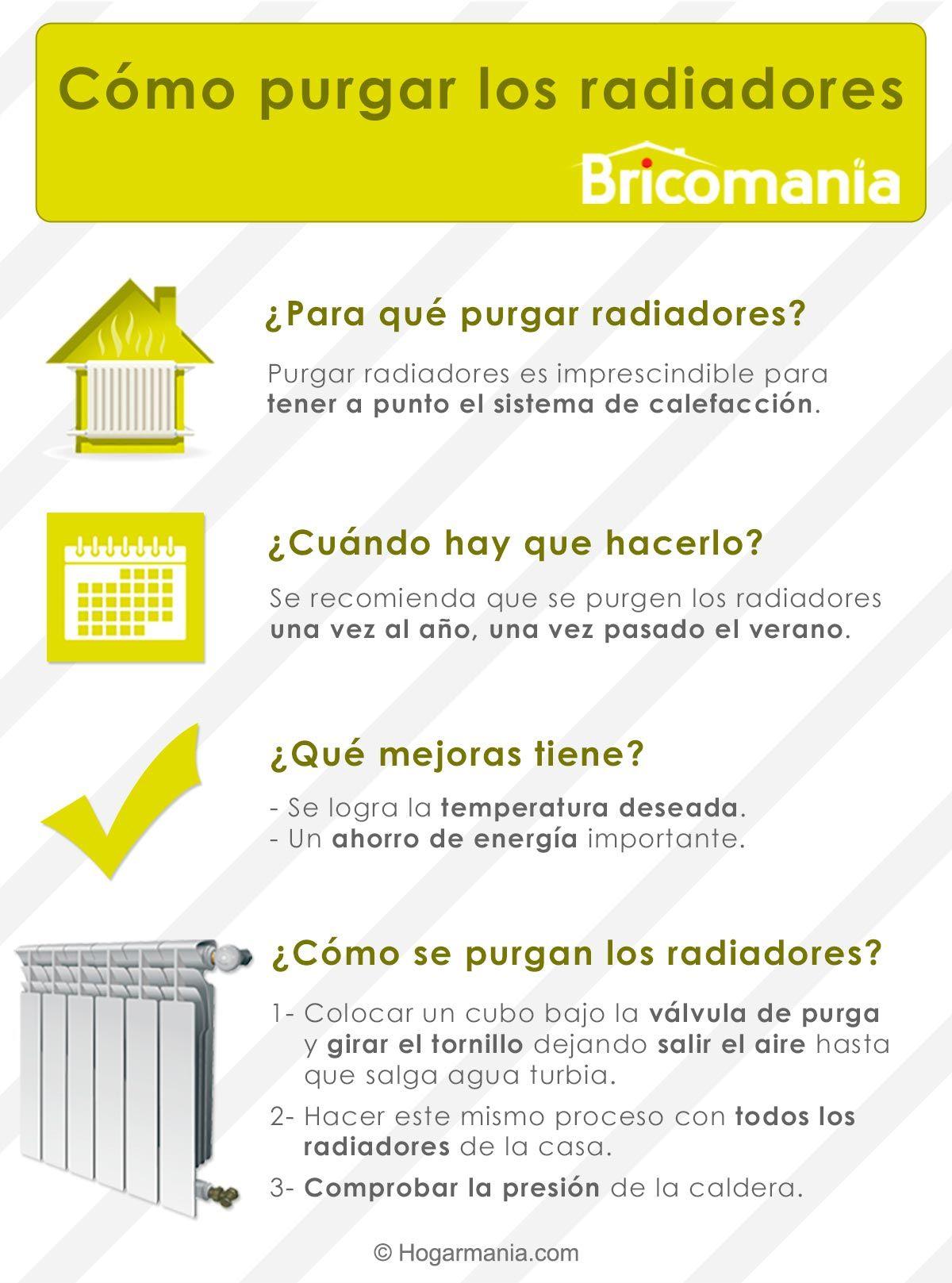 Infographie comment purger les radiateurs