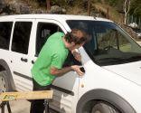 Réparation de garniture de voiture