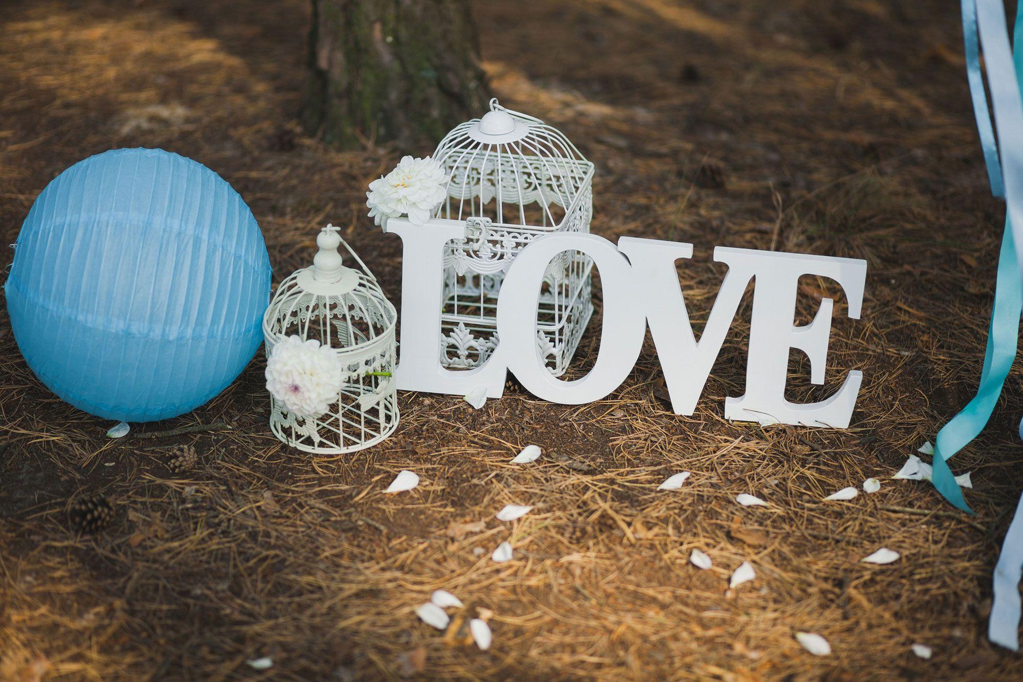 Lettres pour décorer un mariage