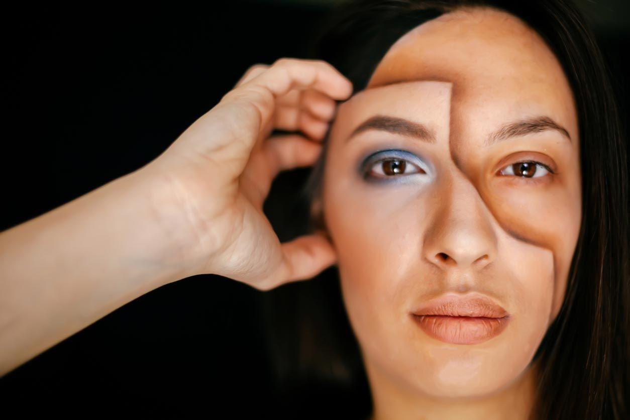 Maquillage visage masque 3D