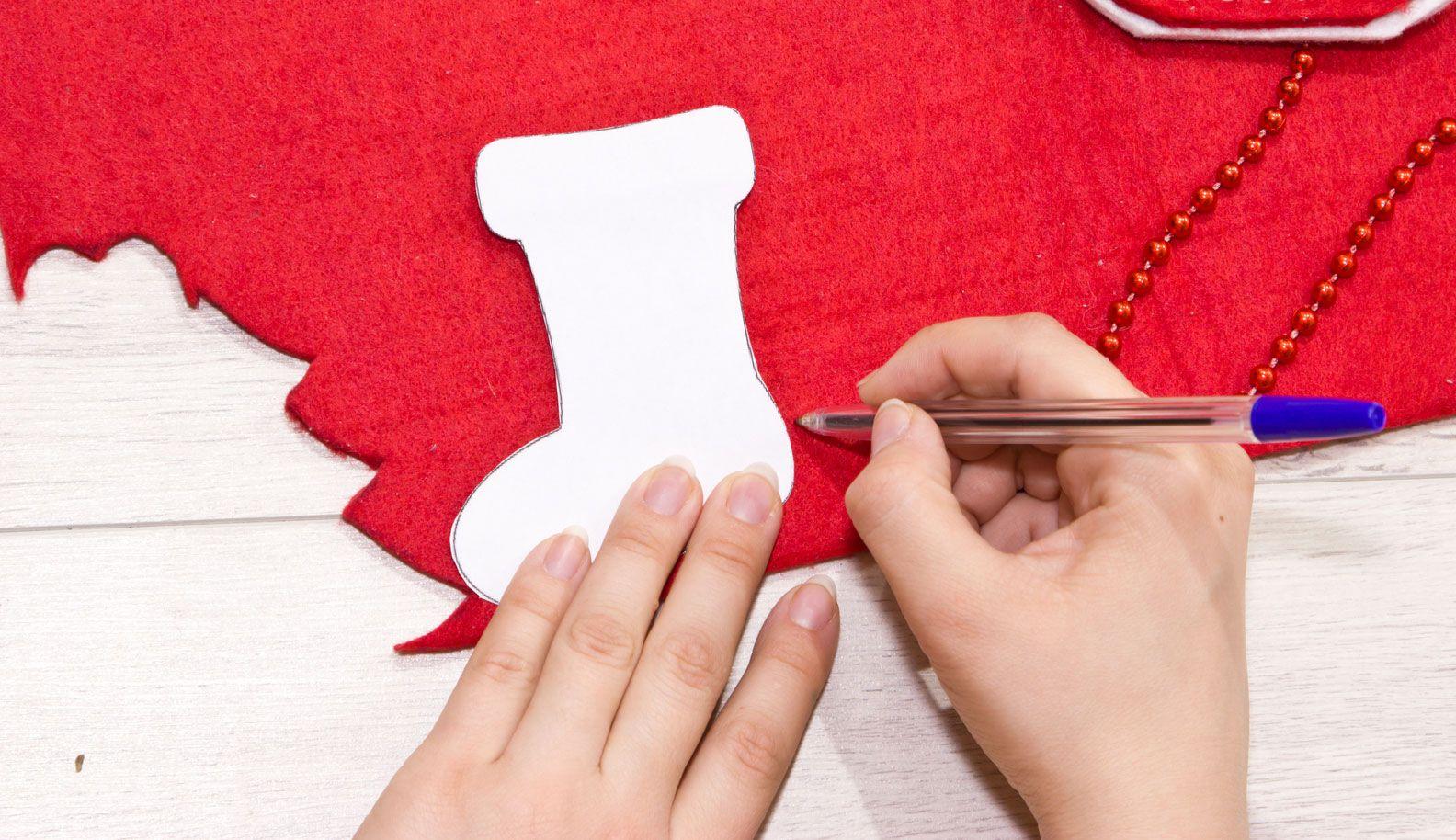 Ornement de chaussette de Noël