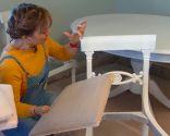 chaise peinture et rembourrage - étape 1