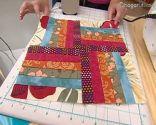 Courtepointe patchwork Block 1