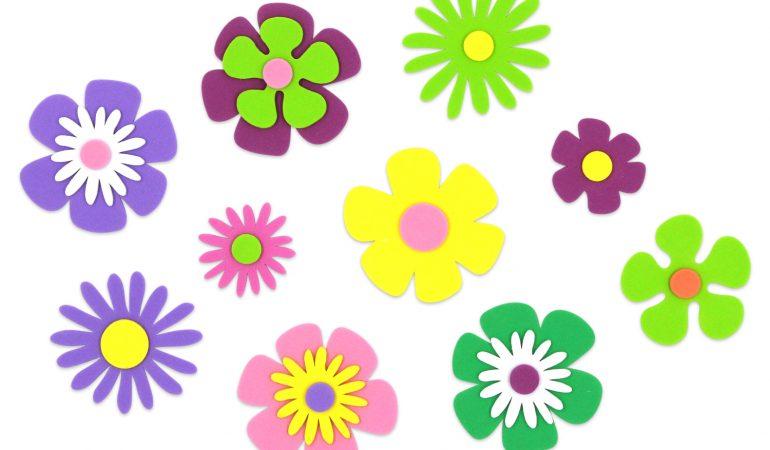 centre-floral-pour-enfants-en-carton-et-caoutchouc-eva
