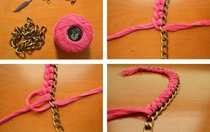 colliers-en-fil-tisse-avec-chaines