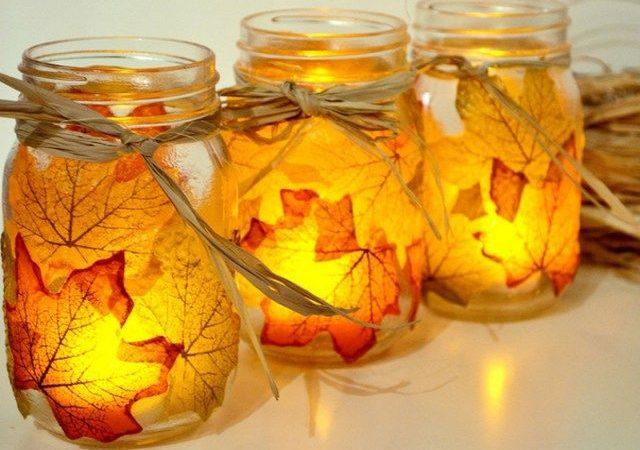 comment-decorer-des-bocaux-mason-avec-des-feuilles-sechees