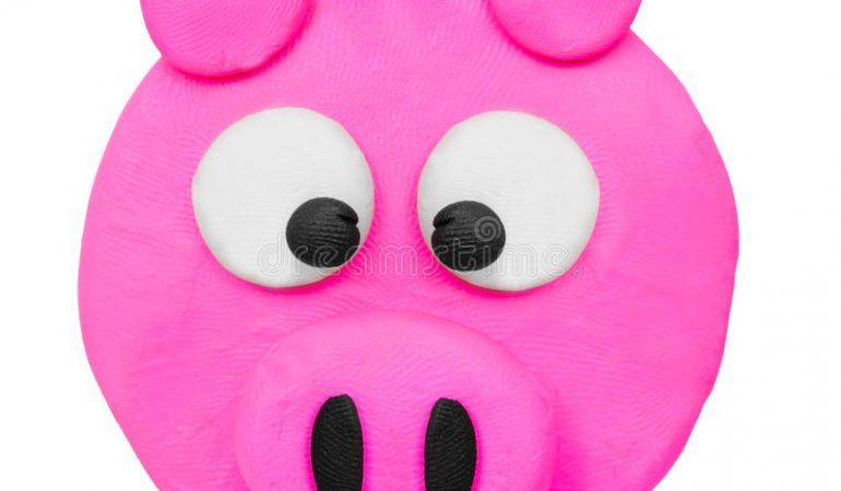 comment-faire-un-visage-de-cochon-avec-de-largile-coloree