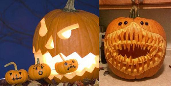 decoration-originale-avec-des-citrouilles-halloween