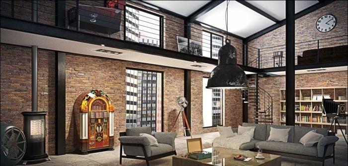 loft-de-style-industriel-new-yorkais