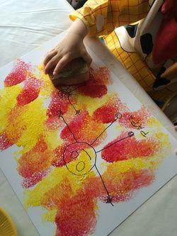 peinture-a-leponge-et-au-tissu