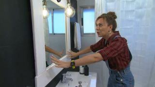 Recyclez un miroir ovale en créant un cadre rectangulaire étape 6