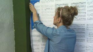 Chambre verte avec décoration musicale sans travaux étape 5