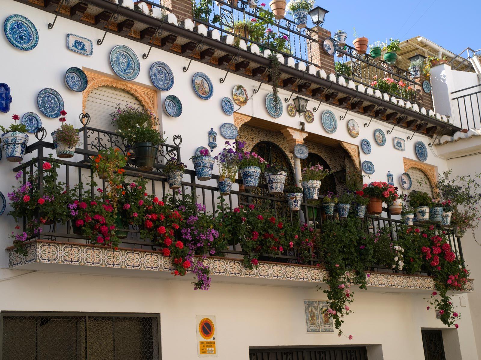 Décoration de balcons et patios en Andalousie