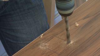 Chambre jaune avec frise en bois étape 5