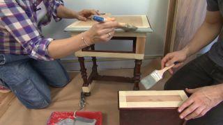 Chambre jaune avec frise en bois étape 3