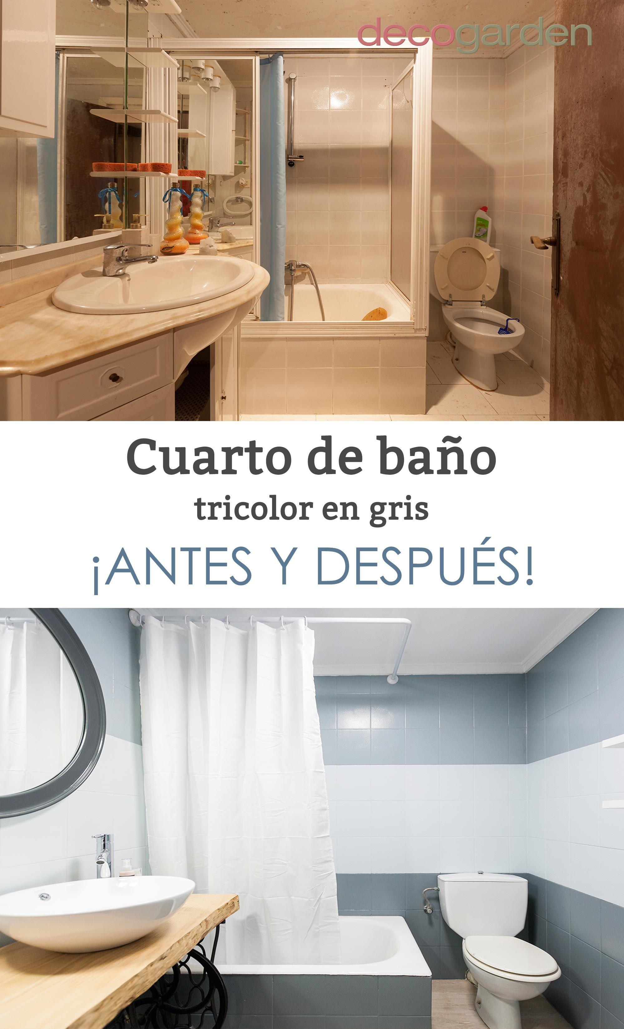 Salle de bain tricolore en gris