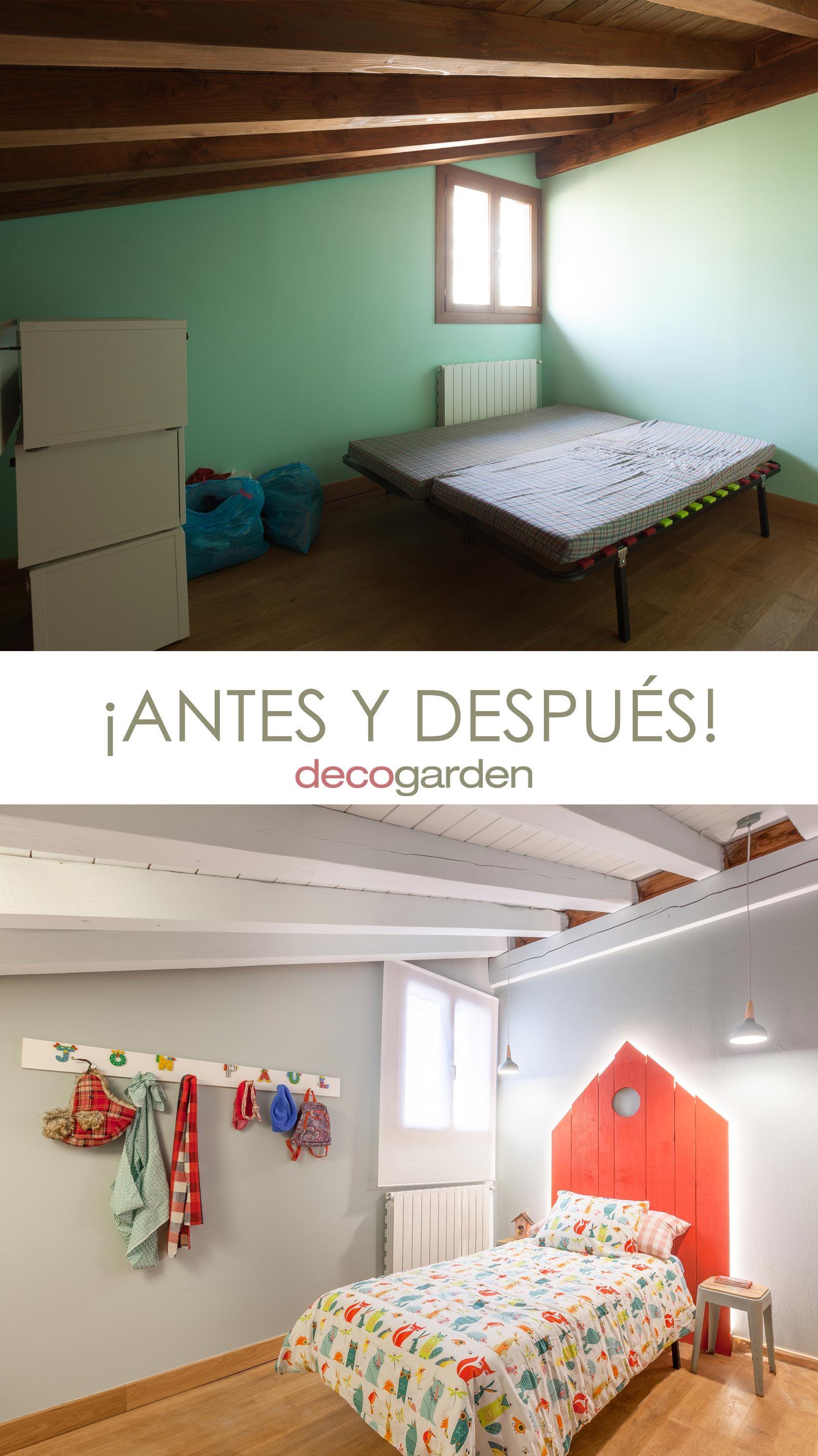 décorer la chambre des enfants du pays avec une tête de lit rouge - avant et après