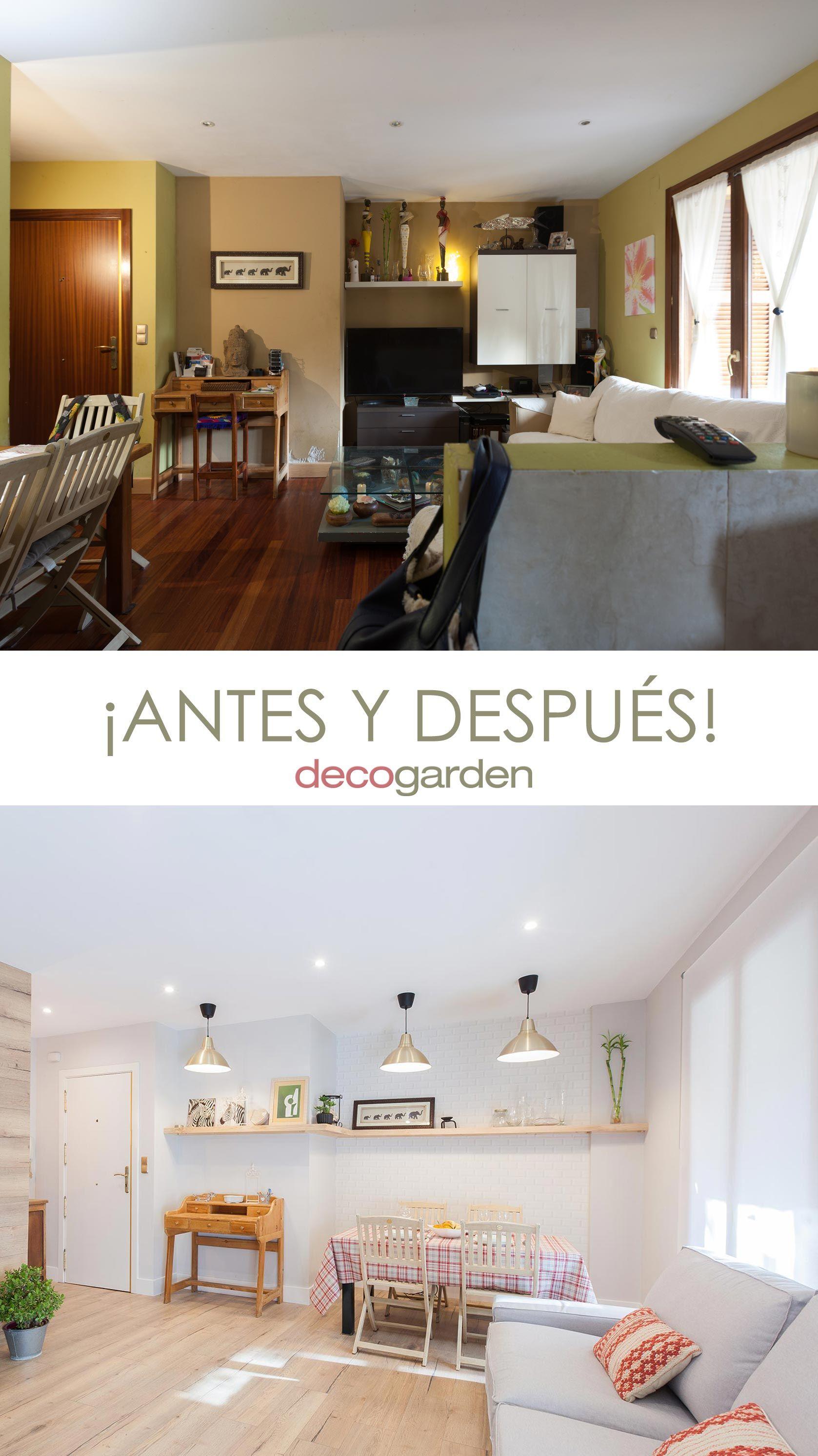 décorer le salon avec cuisine ouverte - avant et après