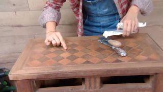 Décorez le salon avec cuisine ouverte en bois - étape 8