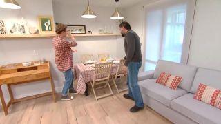 Décorez le salon avec cuisine ouverte en bois - étape 10