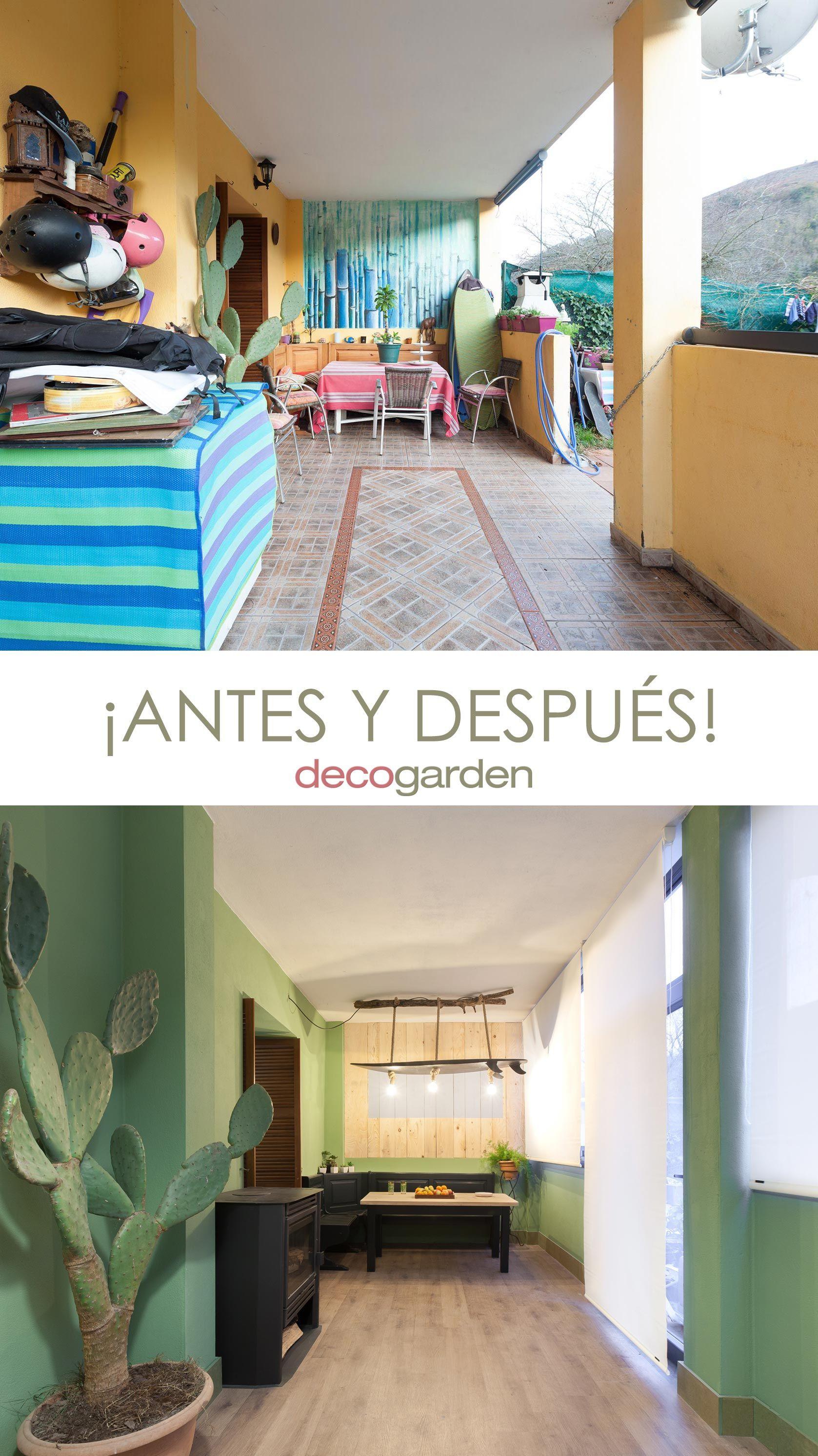 décorez un porche de jeunesse en vert - avant et après