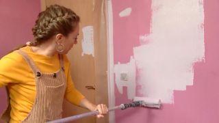 Décorez la chambre des jeunes avec une étude rose - étape 1