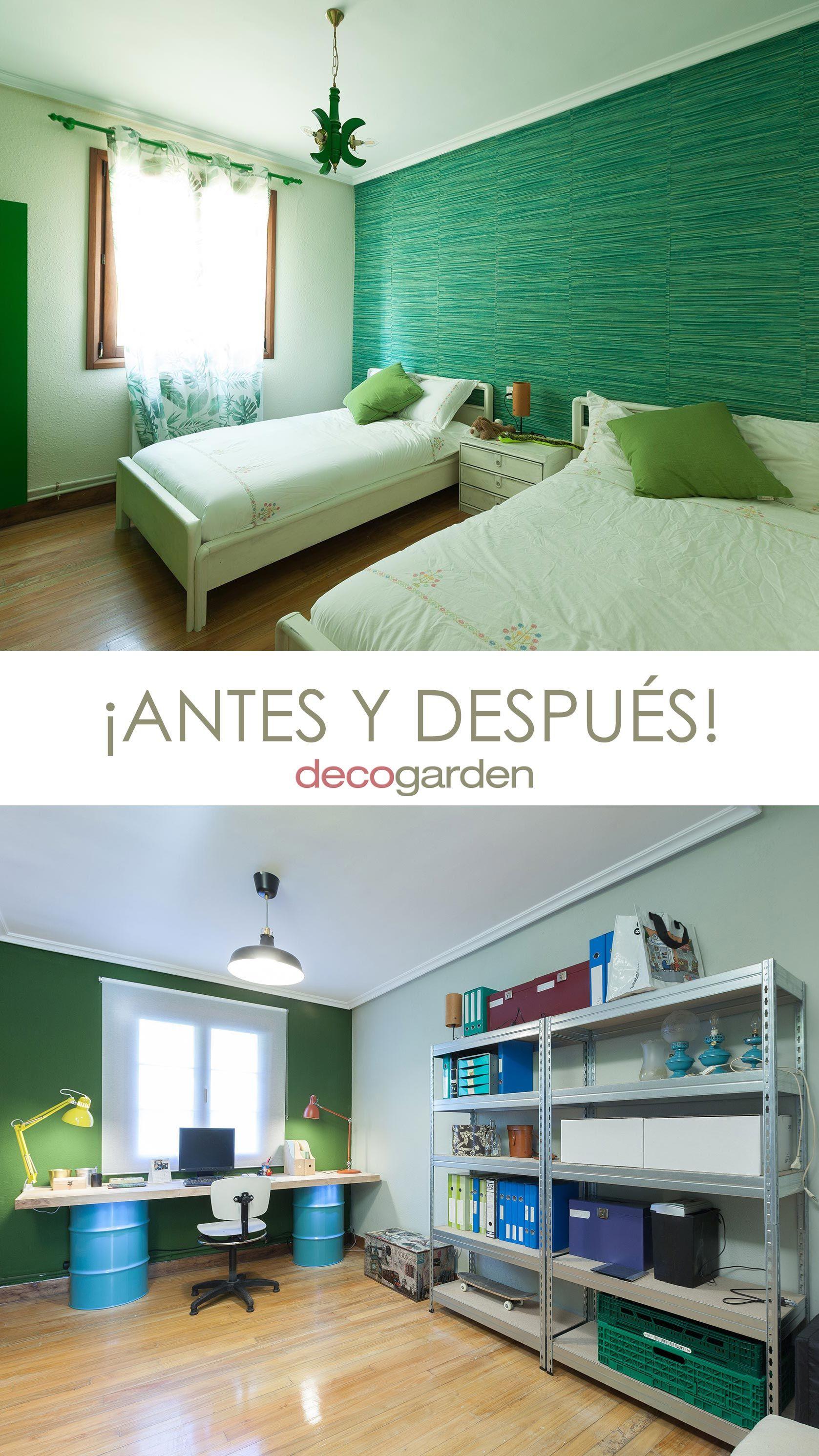 Décorez le studio multifonctionnel couleur vert - avant et après