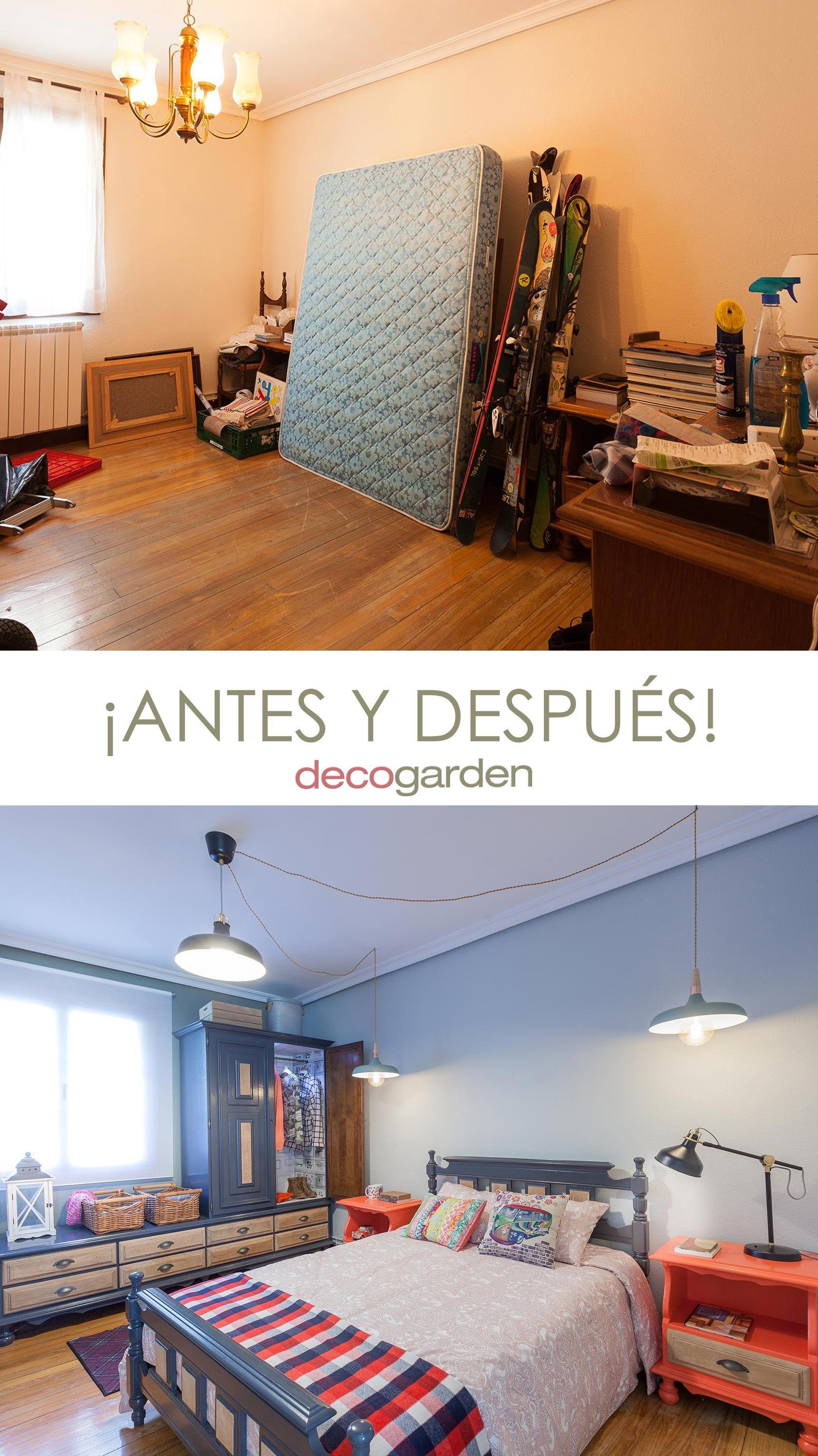 Décorer la chambre des jeunes industriels avec des meubles recyclés - avant et après
